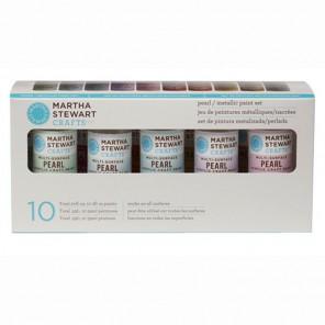 Жемчужные и металлические Набор акриловых красок для любых поверхностей Марта Стюарт Martha Stewart