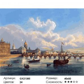 Сложность и количество цветов  Нева XIX век Раскраска по номерам на холсте GX21385