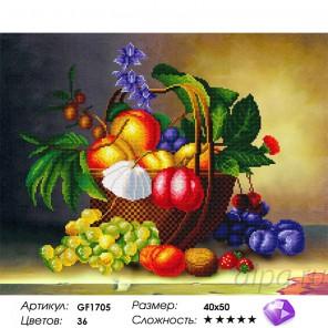 Количество цветов и сложность Фруктовый натюрморт Алмазная мозаика вышивка на подрамнике Painting Diamond GF1705
