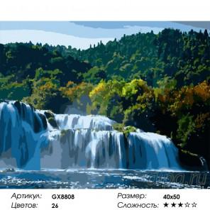 Водопад Раскраска по номерам на холсте