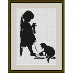Девочка с кошечкой Набор для вышивания Luca-S