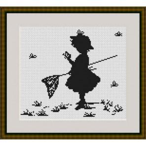 Девочка с бабочками Набор для вышивания Luca-S