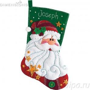 Сапожок Дед мороз Набор для вышивания апликация Dimensions