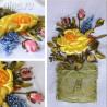 Фрагменты работы Краски лета Набор для вышивки картины лентами VL012