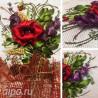 Фрагменты работы Маковое настроение Набор для вышивки картины лентами VL014