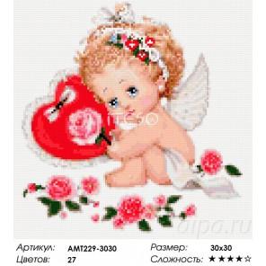 Сложность и количество цветов Ангел с сердечком Алмазная мозаика на твердой основе Iteso
