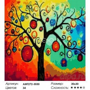 Дерево богатства Алмазная мозаика на твердой основе Iteso