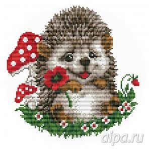 Ёжик с цветком Набор для вышивания VC017