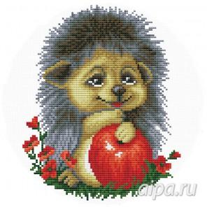 Ёжик с яблоком Набор для вышивания VC016
