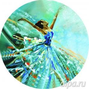 Балерина в голубом Набор для вышивания