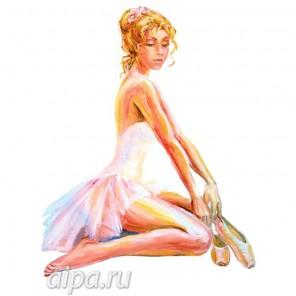 Балерина с пуантами Набор для вышивания