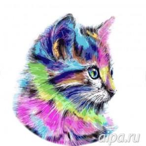 Разноцветная кошка Набор для вышивания