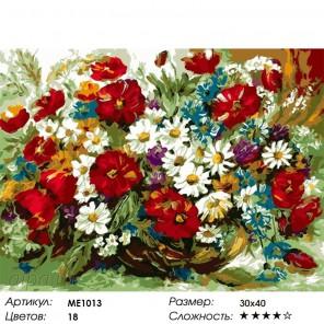 Количество цветов и сложность Летний букет в вазе Раскраска по номерам на холсте Menglei