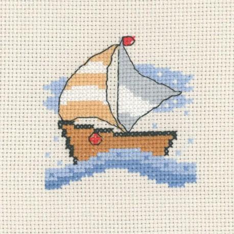 Лодка Набор для вышивания Permin 14-3135