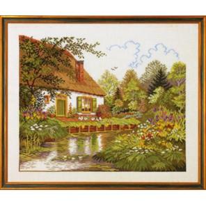Дом и озеро Набор для вышивания Eva Rosenstand