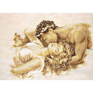 Набор для вышивания, по картине Поцелуй Мануэля Ланса Набор для вышивания Vervaco