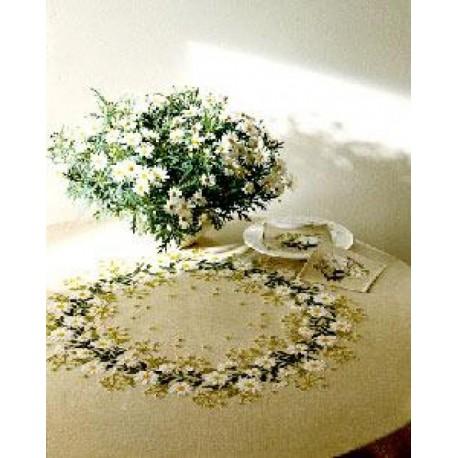 Ромашки Набор для вышивания скатерти EVA ROSENSTAND