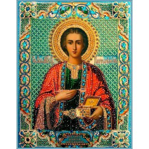 Святой Пантелеймон целитель Набор для вышивания хрустальными бусинами СТУДИЯ ВЫШИВКИ