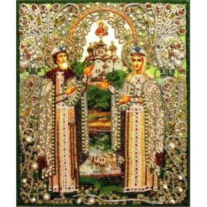 Святые Петр и Феврония Набор для вышивания хрустальными бусинами СТУДИЯ ВЫШИВКИ
