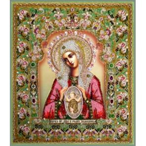 Богородица Помощница в родах Набор для вышивания хрустальными бусинами СТУДИЯ ВЫШИВКИ