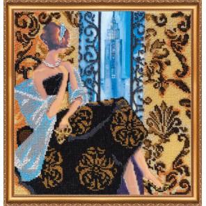 Окно в Нью-Йорк Набор для вышивки бисером на натуральном художественном холсте АБРИС АРТ