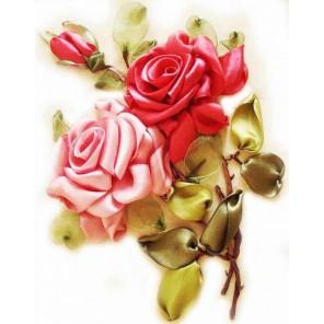 Розы Набор для вышивания лентами ЦВЕТНОЙ