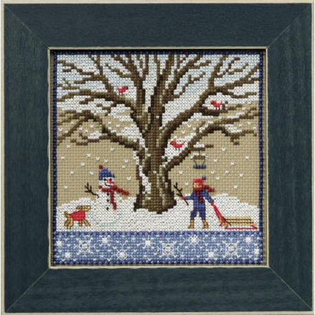 Зимний дуб Набор для вышивания бисером MILL HILL