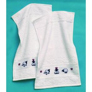 Овечки Набор для вышивания полотенца PERMIN