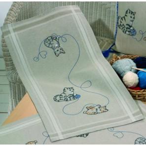 Кошки Набор для вышивания дорожки PERMIN