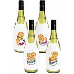 Пасхальное веселье Набор для вышивания фартучков на бутылку PERMIN