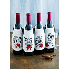 Коровы Набор для вышивания фартучков на бутылку PERMIN