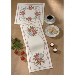 Розы Набор для вышивания салфетки PERMIN