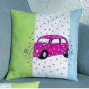 Розовый фольксваген Набор для вышивания подушки PERMIN