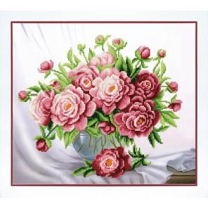 Розовые пионы Набор для вышивания бисером Чаривна Мить