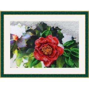 Японская роза Набор для вышивания бисером GALLA COLLECTION