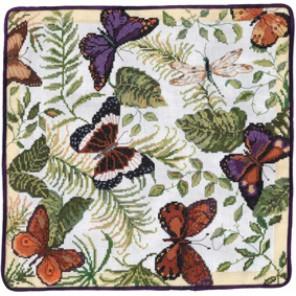Бабочки Набор для вышивания подушки CANDAMAR DESIGNS