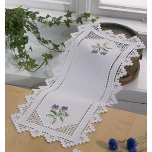 Фиалки Набор для вышивания в технике Хардангер дорожки PERMIN