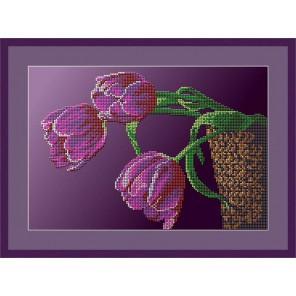Три тюльпана Набор для вышивания бисером GALLA COLLECTION