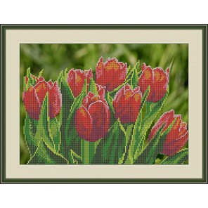 Тюльпаны Набор для вышивания бисером GALLA COLLECTION