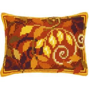 Листья Набор для вышивания подушки VERVACO