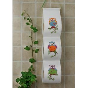 3 совы Набор для вышивания держателя для туалетной бумаги PERMIN