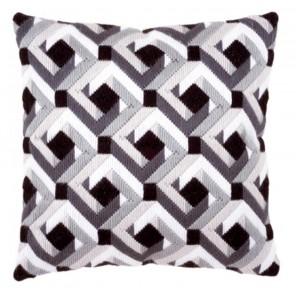 Черно-белый Набор для вышивания подушки VERVACO