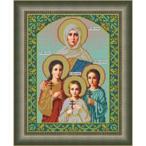 Вера, Надежда, Любовь и мать их София Набор для вышивания бисером Икона GALLA COLLECTION
