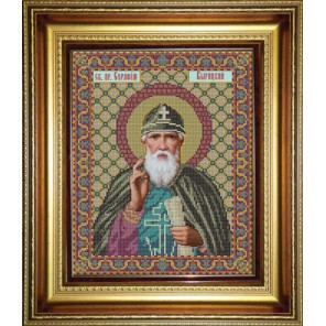 Святой преподобный Серафим Вырицкий Набор для вышивания бисером Икона GALLA COLLECTION