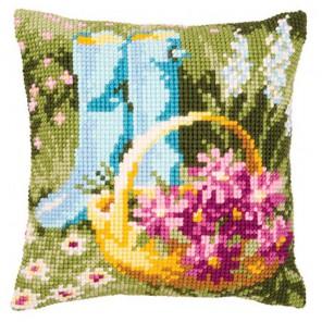 Садовые сапоги Набор для вышивания подушки VERVACO