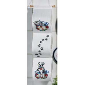 Верные друзья Набор для вышивания держателя для туалетной бумаги PERMIN