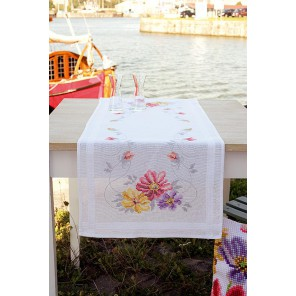 Красочные цветы Набор для вышивания дорожки VERVACO