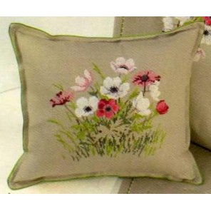 Цветы Набор для вышивания подушки EVA ROSENSTAND