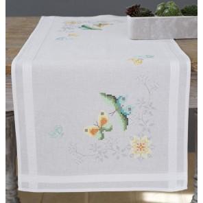 Цветы и бабочки Набор для вышивания дорожки VERVACO