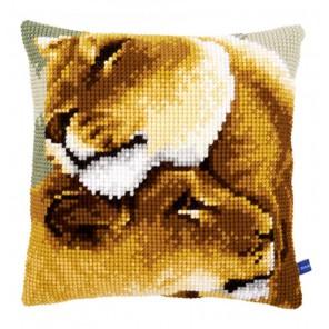 Львы Набор для вышивания подушки VERVACO